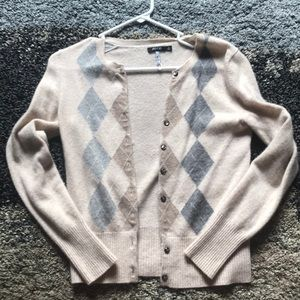 Cashmere Long Sleeve Button Up Sweater